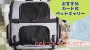 【エアバギーforペットフィット】猫2匹飼いのキャリーバッグはカート式がおすすめ! 口コミレビュー